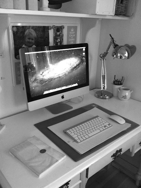 Mac, kontor, Lelias general store, Granit, dator, blogg,