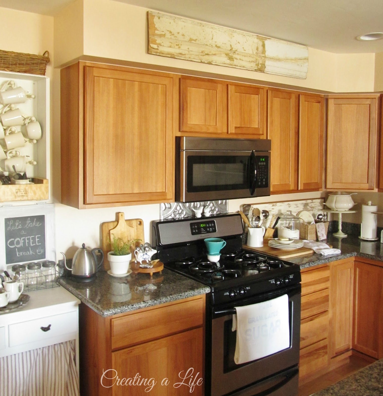 Creating a life farmhouse style kitchen update - Decals for kitchen cabinets ...