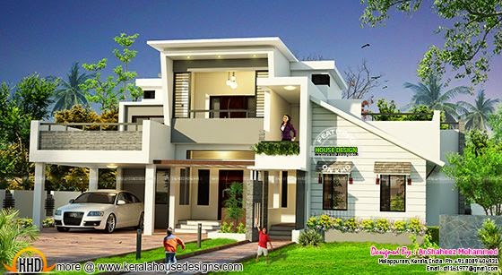 Modern house 2440 sq-ft