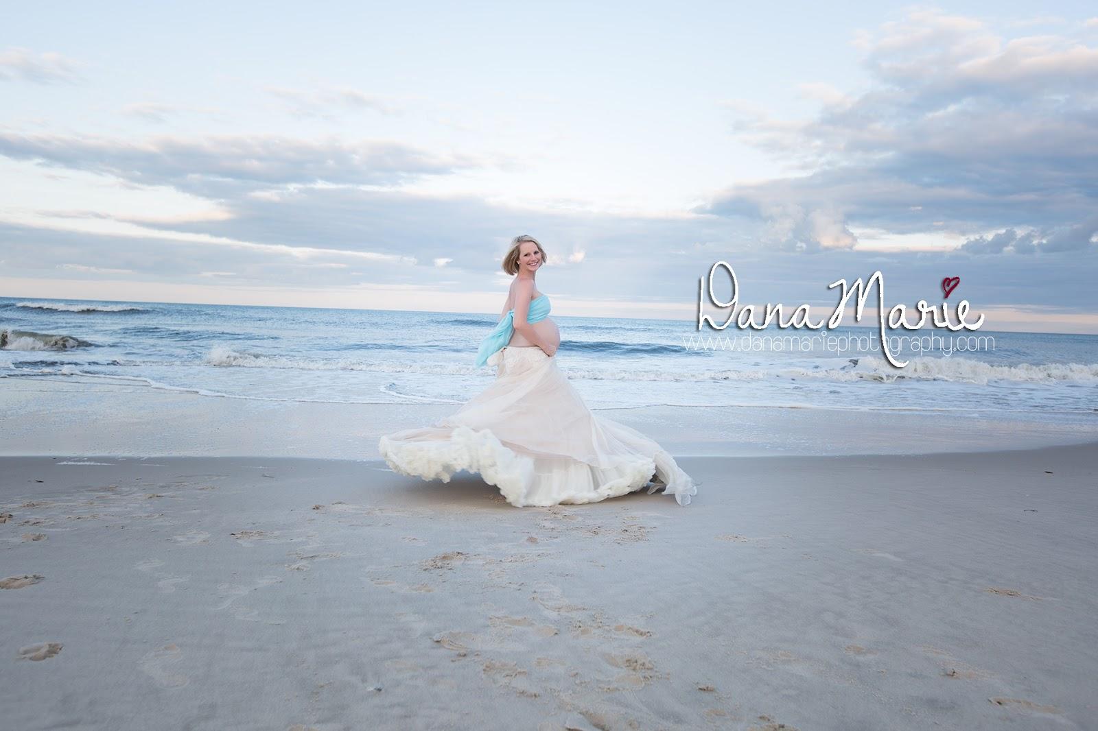 Dana Marie Photography: Maternity Beach Photos in her Wedding Dress ...