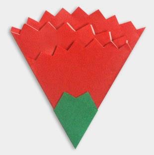 Hướng dẫn cách gấp bông hoa cẩm chướng bằng giấy đơn giản - Xếp hình Origami - How to make a carnation