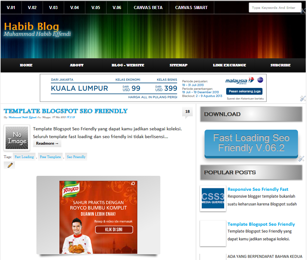 Fast Load Html Templates Template Blogspot Seo Friendly
