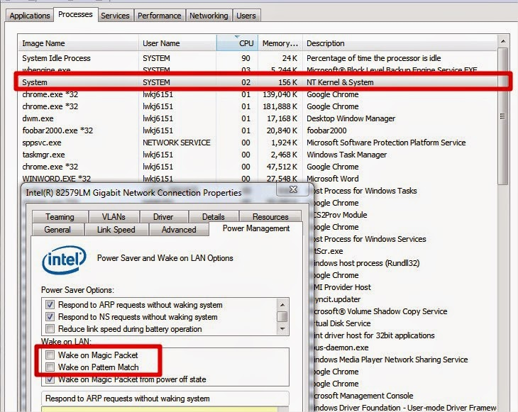 High CPU usage on Windows 7 using Intel Gigabit LAN | Blog de Mathieu