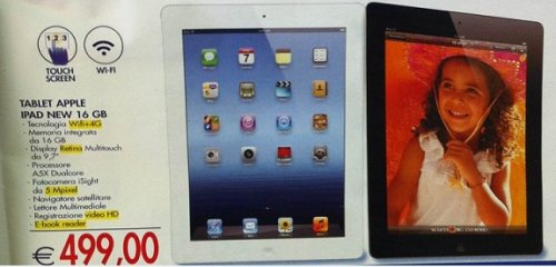 Offerta a prezzo scontato nuovo iPad 16 GB 4G da Esselunga