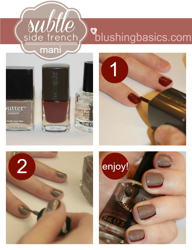 blushing basics: Side French Mani {Tutorial}