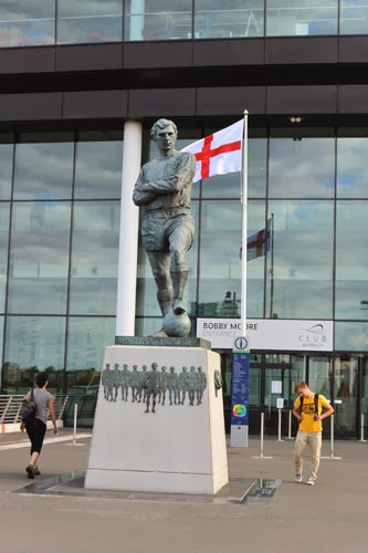 Bobby Moore Statue Wembley Stadium, London, UK