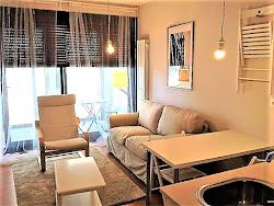 Apartamento en Someso, Espacio Coruña, amueblado, garaje, gimnasio, piscina. 475€