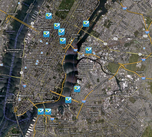Nov 1 9 AM NYC Foursquare Trending Map