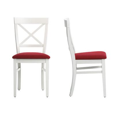 silla cocina madera blanca laca