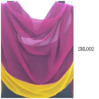 shawl halfmoon 2 layer purple