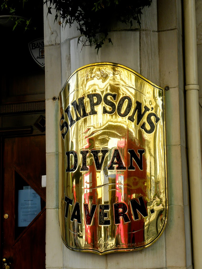 Simpson's-in-the-Strand sign