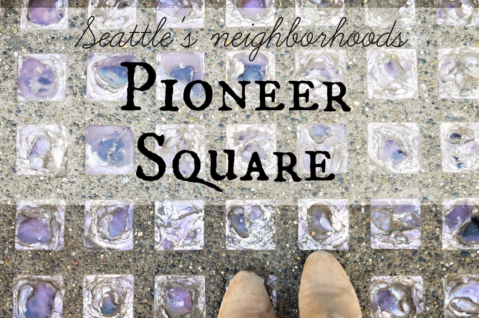 Skylights sidewalks. Pioneer Square. Seattle