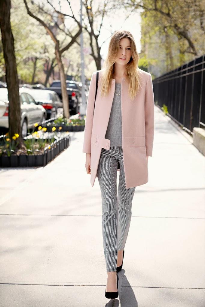 Outfit abrigo palo de rosa