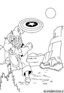 Captain America Avengers Coloring pages