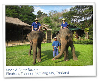 Marla Malcolm Beck and Barry Beck – Elephant Training in Chiang Mai, Thailand