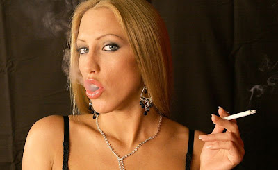 Cigarette smoking women