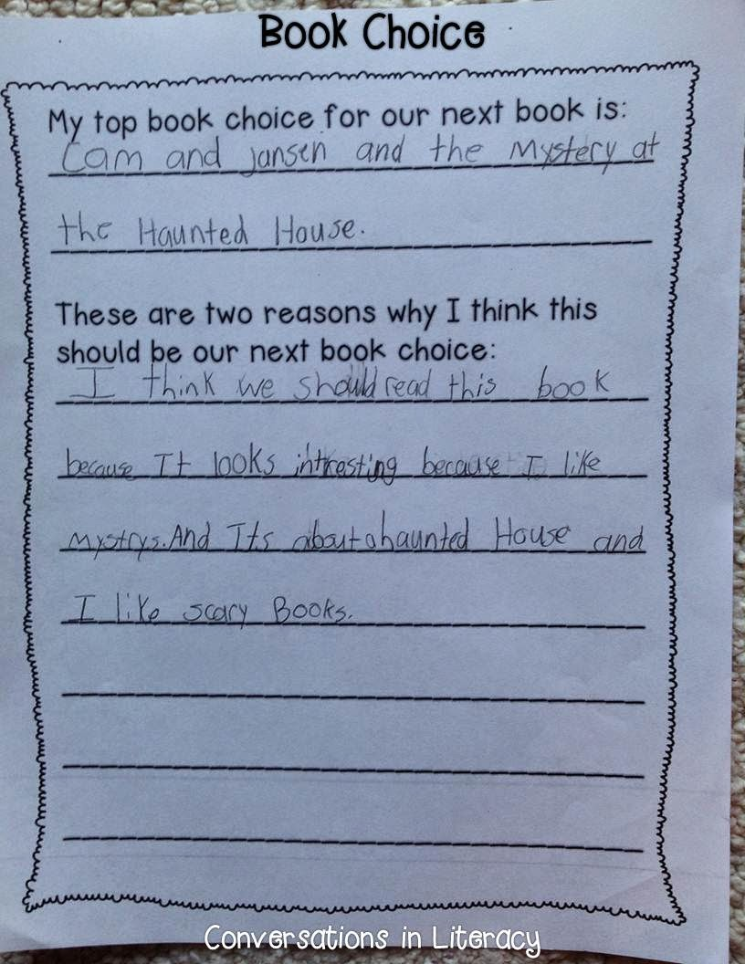 persuasive writing to convince the teacher what book to read next