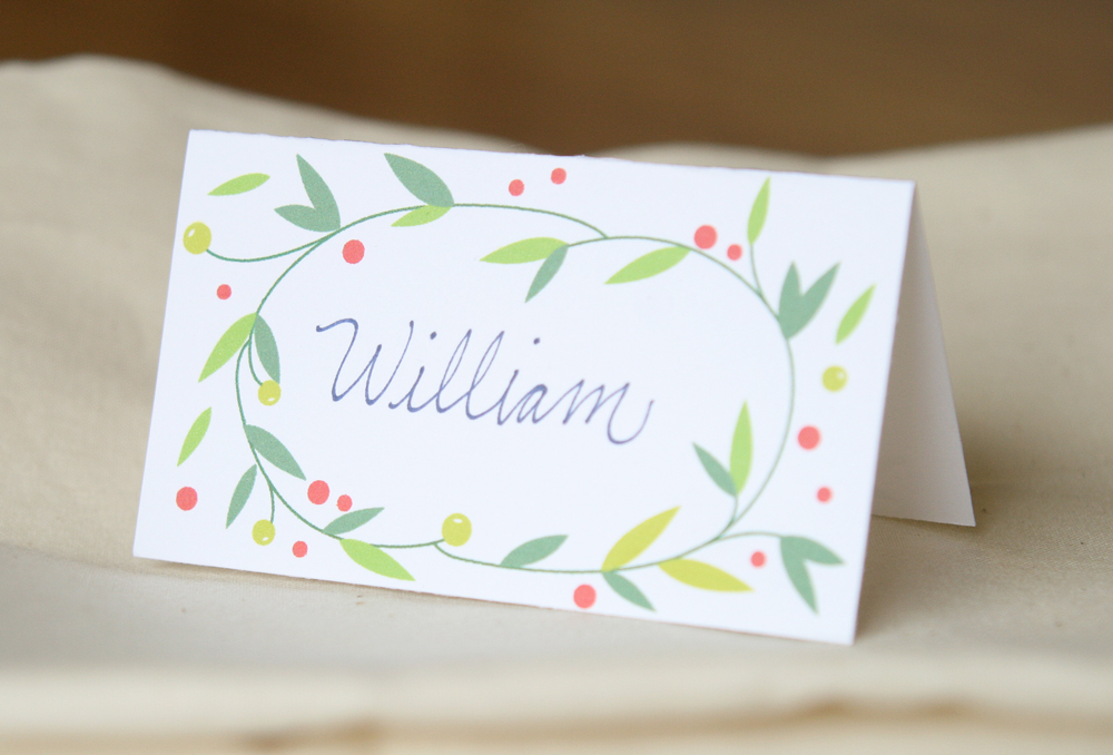 Lemon Squeezy: Day 12: Place cards