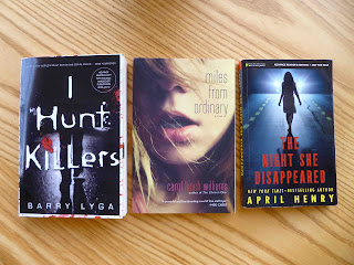 I Hunt Killers, Barry Lyga, Miles from Ordinary, The Night She Disappeared