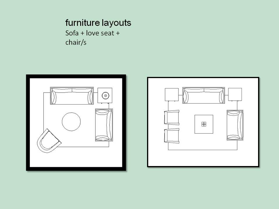 Which living room furniture layouts work best vered for Living room seating arrangement design
