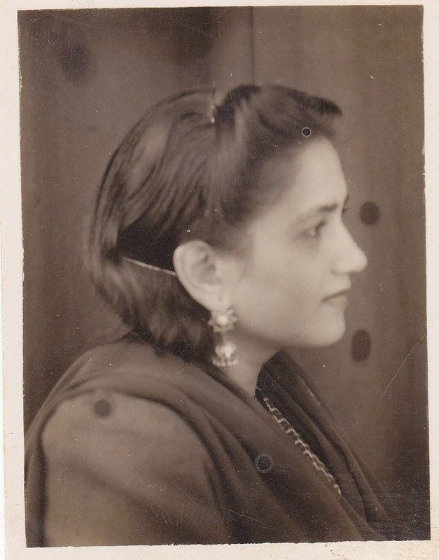 Portrait of Pakistani Urdu Poet Ada Jafri - c1940's