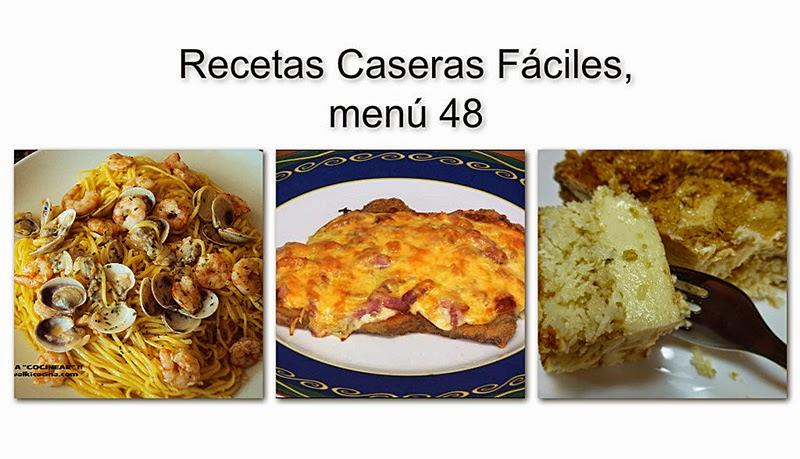 Recetas Caseras Fáciles, menú 48