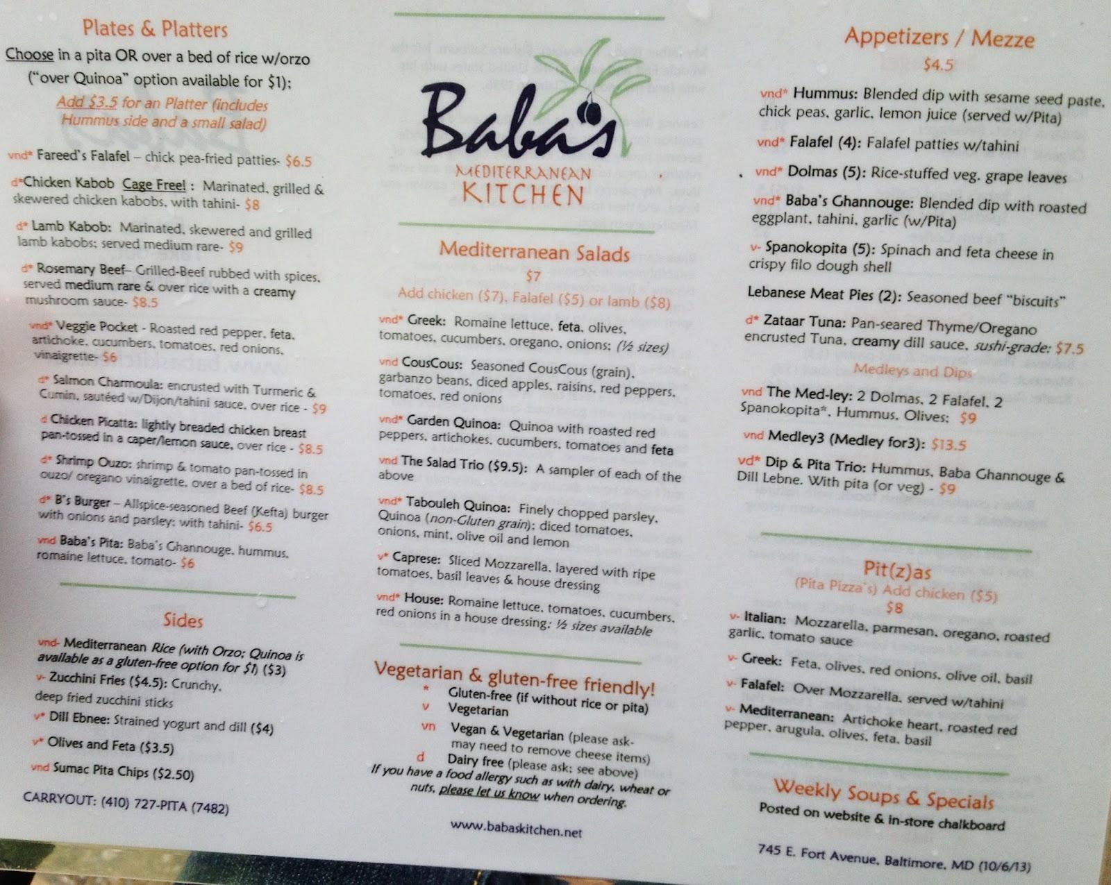 the gluten dairy free review blog baba s mediterranean kitchen