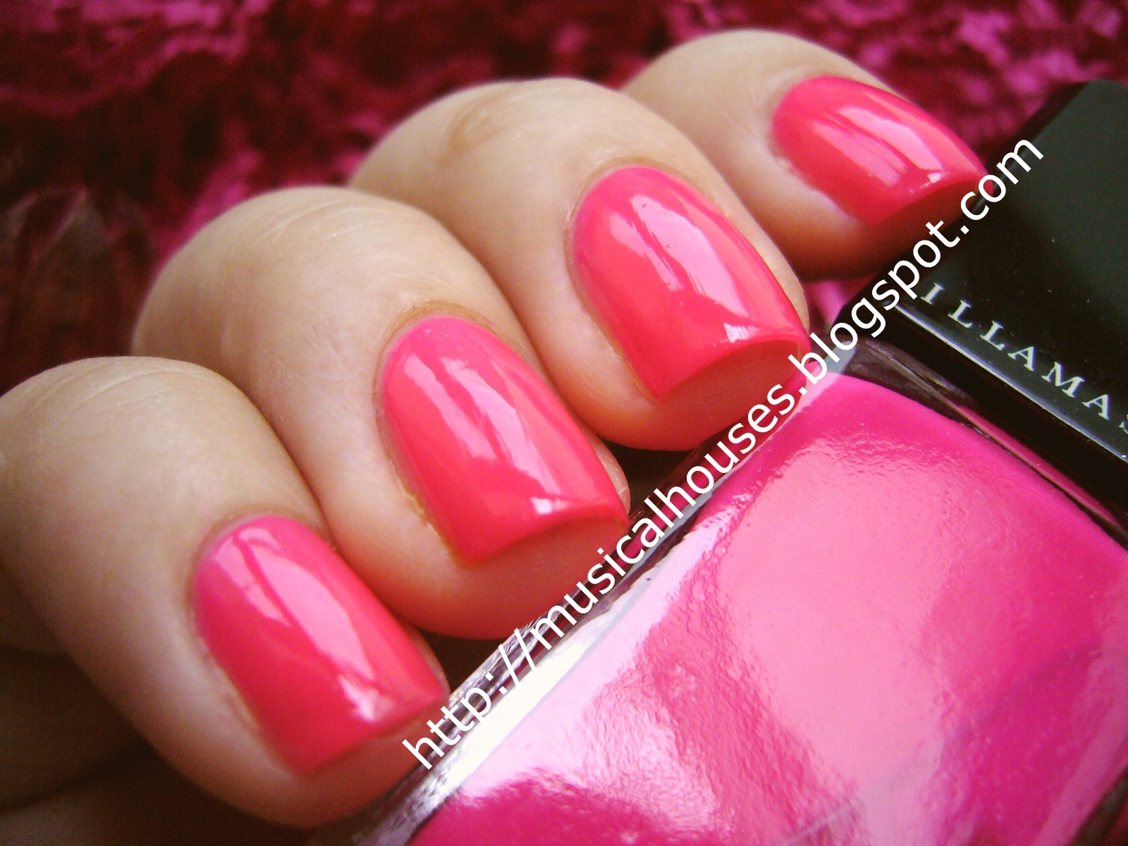 illamasqua collide: neon hot pink nails for summer! - of faces and