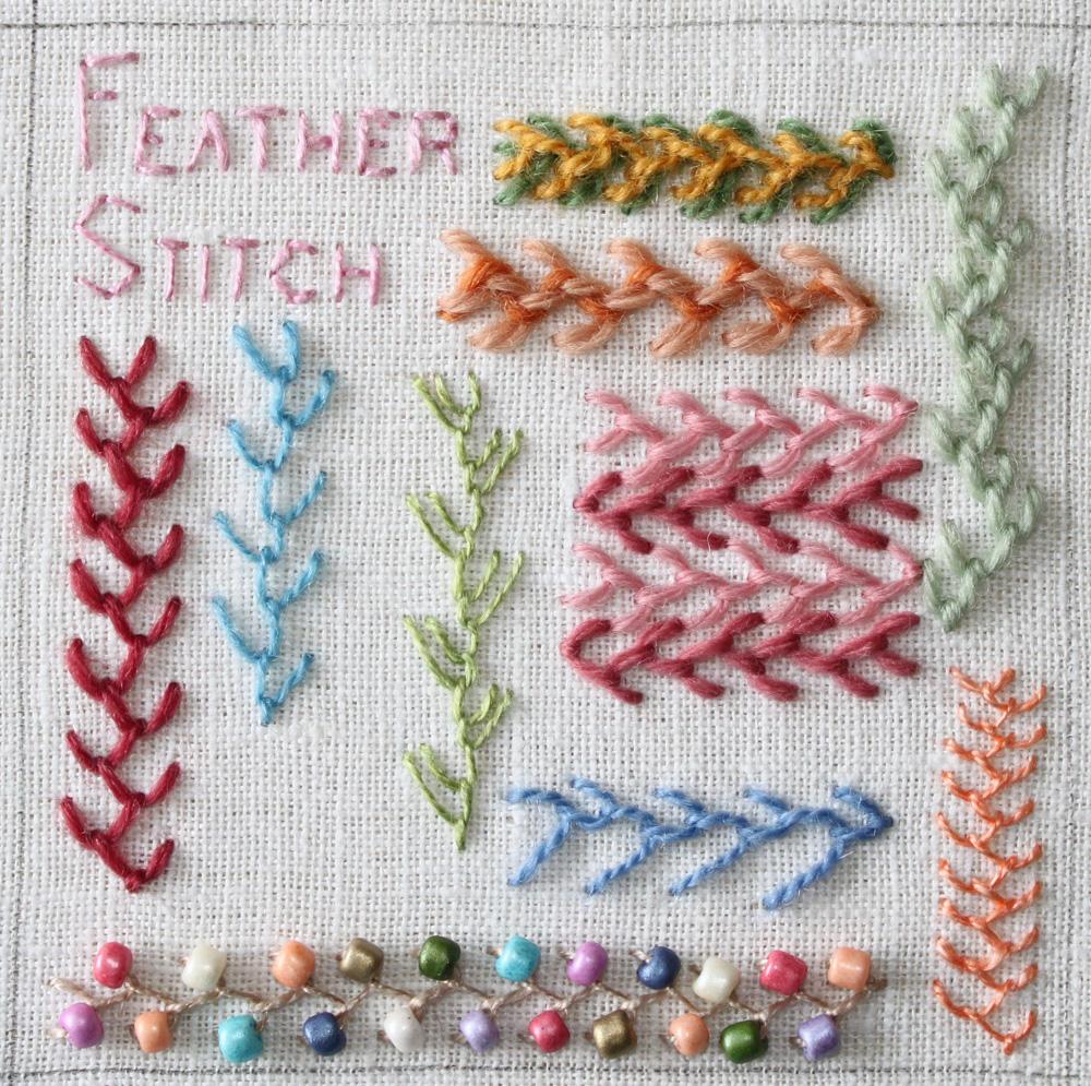 The Floss Box Feather Stitch Tast Week 3