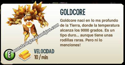 imagen de la descripcion del monstruo goldcore
