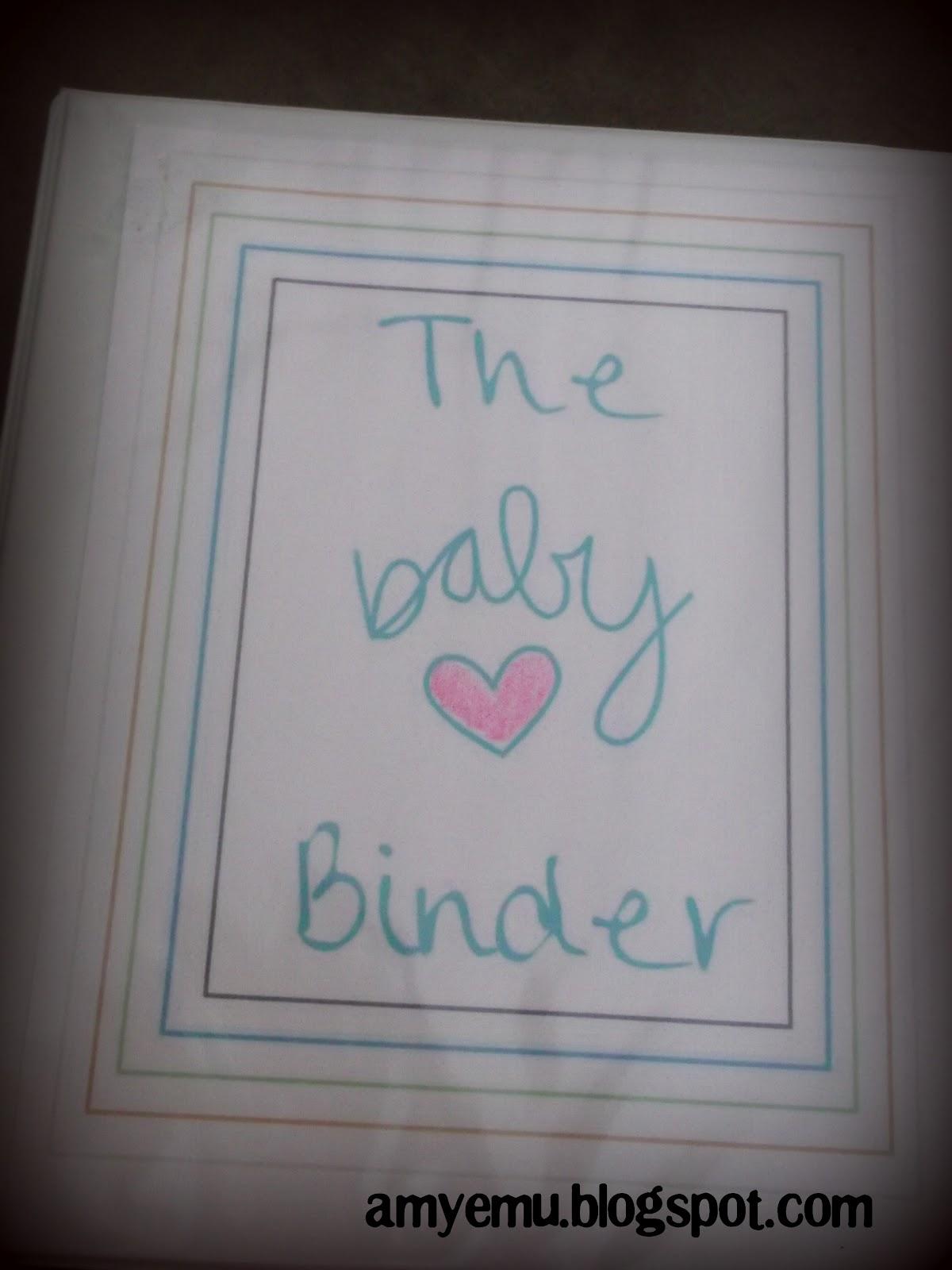 the adventures of amyemu  the baby binder