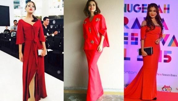 Cantiknya 11 Selebriti Ini Tampil Dengan Busana Merah