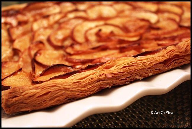Apple Mosaic Tart With Salted Caramel Recipe — Dishmaps