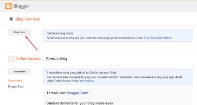 Button untuk membuat Blog