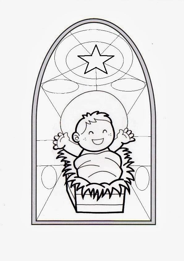 Increíble Libro De Colorear De Natividad Festooning - Dibujos Para ...