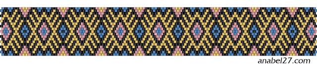 схема мозаичное плетение браслет орнамент free peyote pattern beading