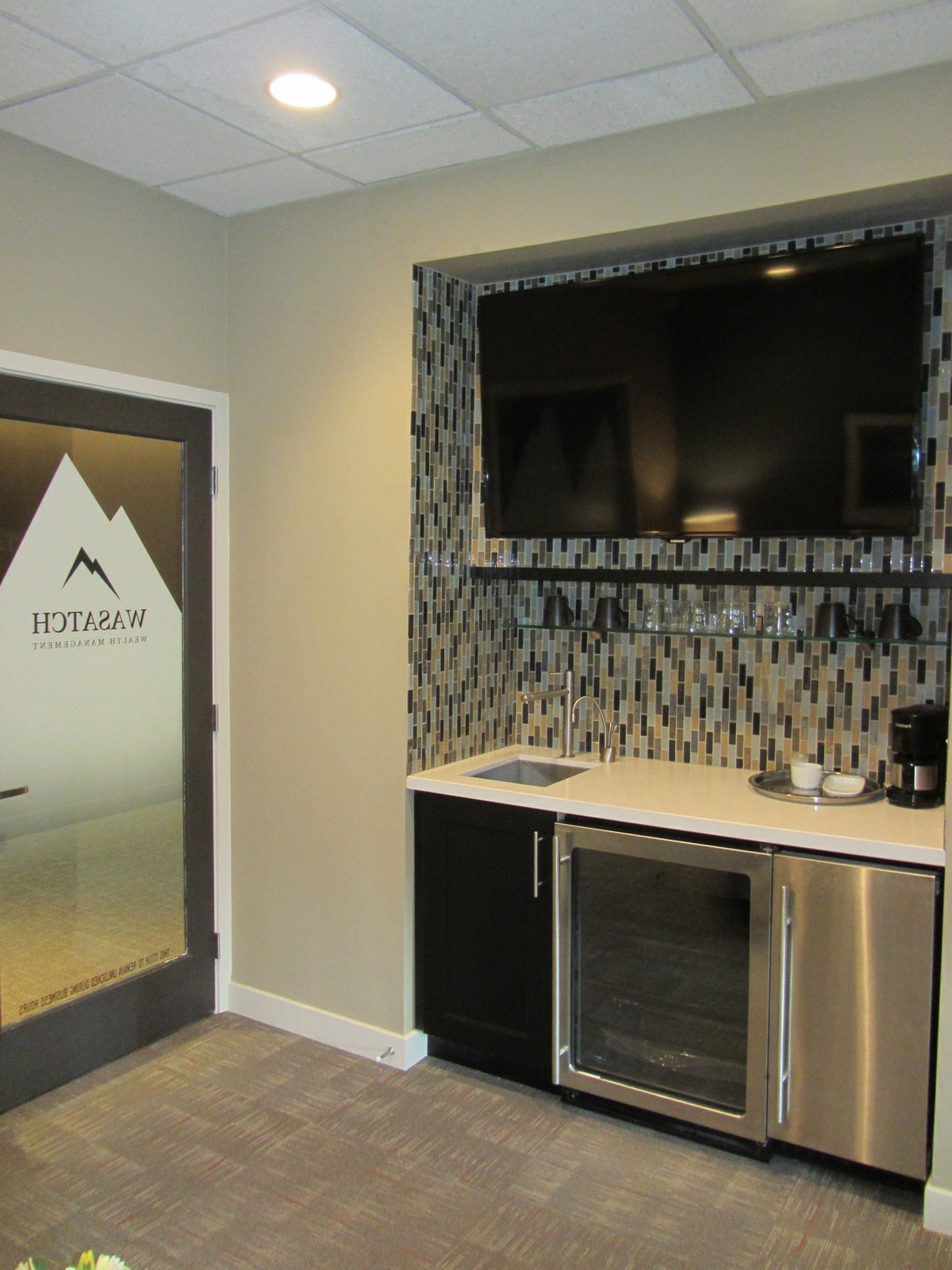 Enzy living office remodel reveal for Office wet bar