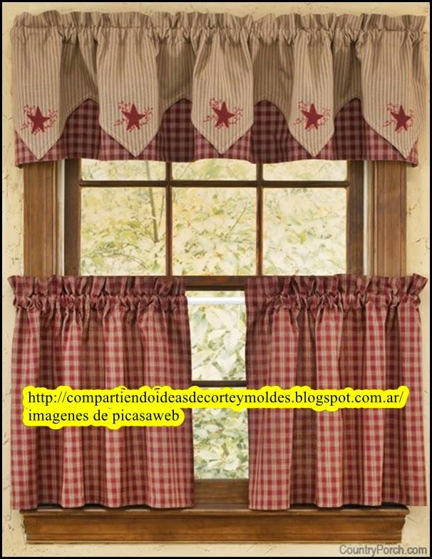 Corte y confecci n cortinas para la cocina - Apliques para cortinas ...