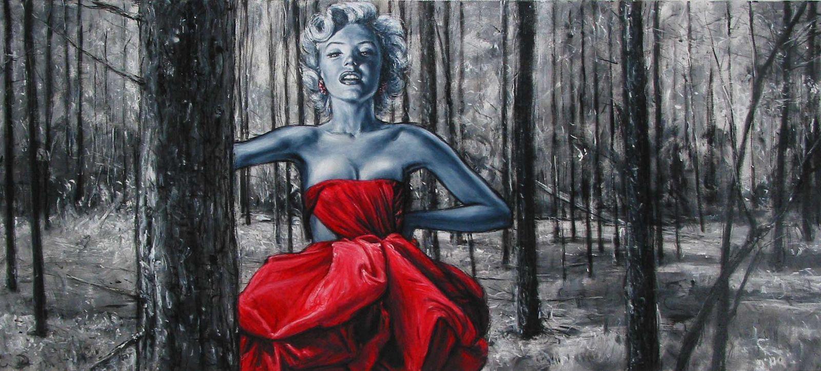 Marilyn MOnroe quadro di dimensioni TELA DI 190x 90 cm artista Antonio ...