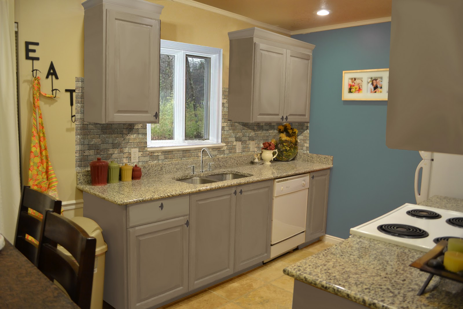 Grey Painted Kitchen Cabinets delighful painted kitchen cabinets two colors twotone for design ideas