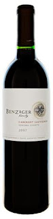 bottle of Benziger Family Estate Cabernet Sauvignon