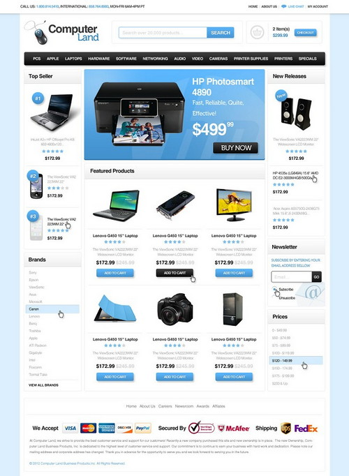 Computer Land Ecommerce Template