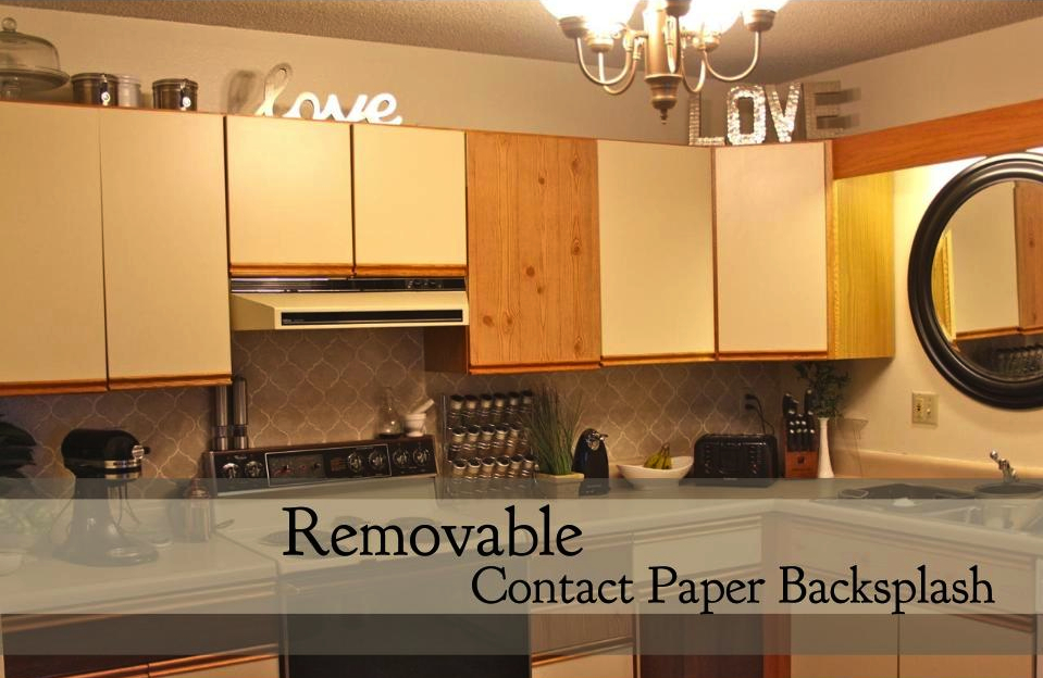 walking with dancers: removable contact paper backsplash