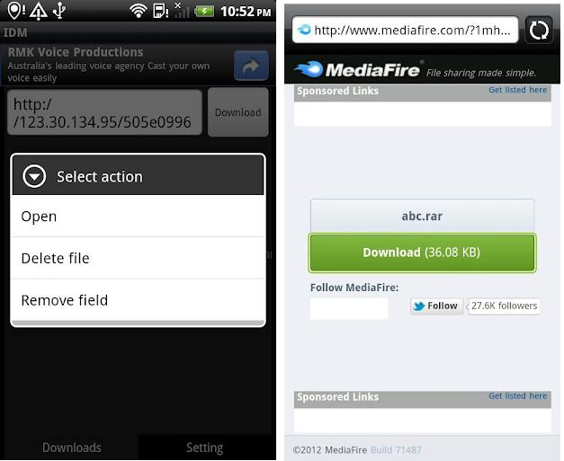 how to open download manager in android