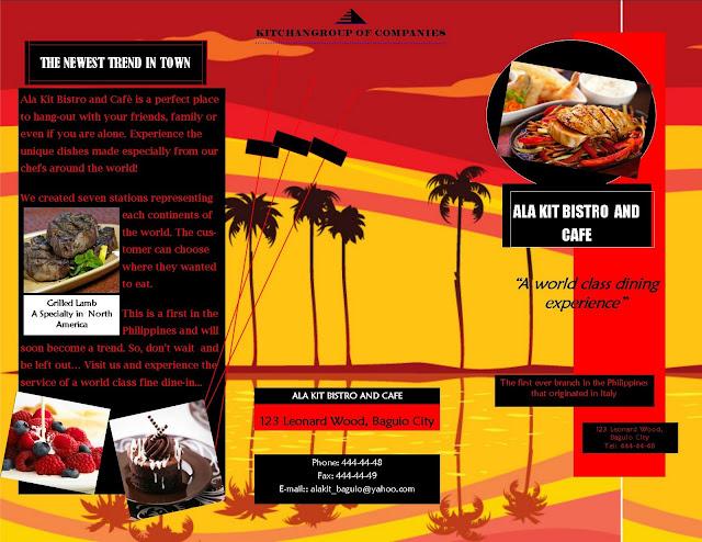 contoh brosur makanan restoran