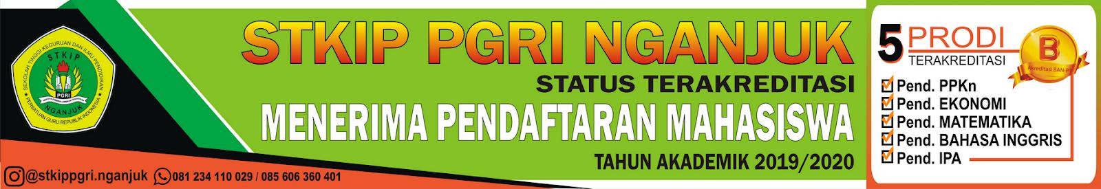 Penerimaan Mahasiswa Baru STKIP PGRI Nganjuk Tahun Ajaran 2019/2020