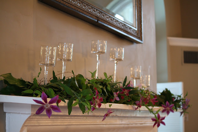 Highlands Country Club Card Mantle Flower Arrangement - Splendid Stems Event Florals