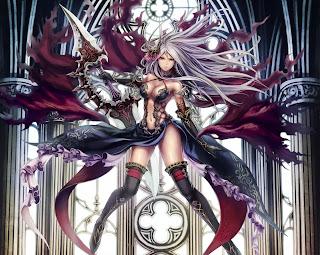 Fantasy Beautiful Dress Weapon Female Girl Anime HD Wallpaper Desktop PC Background 1891