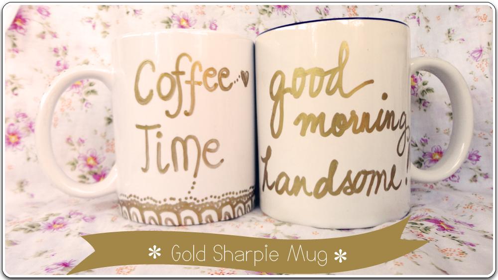 Gold Sharpie Mug