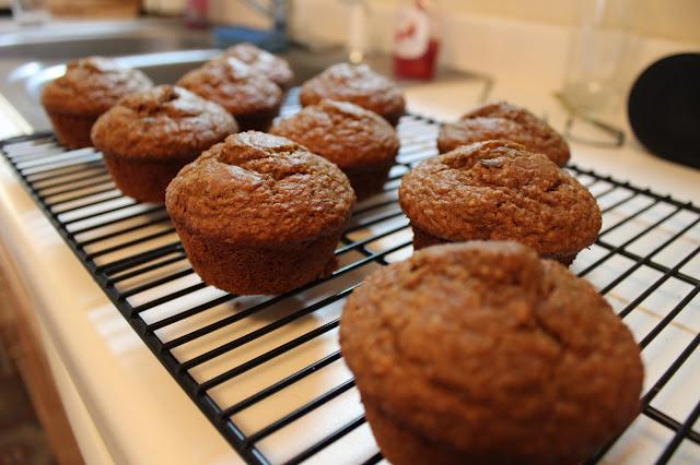 molasses raisin-bran muffins